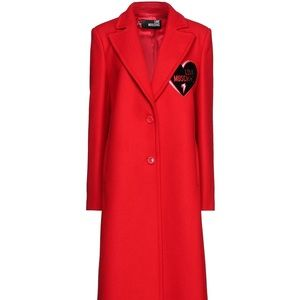 🔥🔥🔥Love Moschino red long coat size 6 US🔥🔥🔥